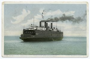 S.S. Sainte Marie, Straits of Machinaw, plies between St. Ignace and Mackinaw City