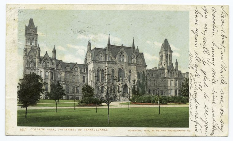 Fascinating Historical Picture of University of Pennsylvania in 1901