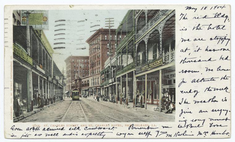 St. Charles St., St. Charles Hotel, New Orleans, La.
