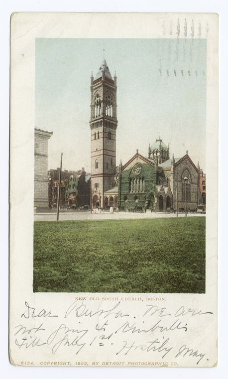 This is What Old South Church Looked Like  in 1902