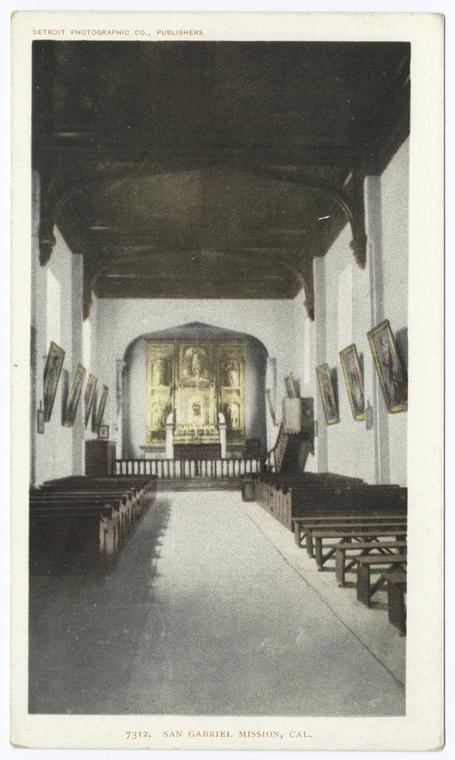 Fascinating Historical Picture of Mission San Gabriel Arcangel in 1903