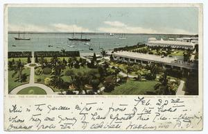 The Harbor and Gardens of the Colonial Hotel, Nassau, B. I.
