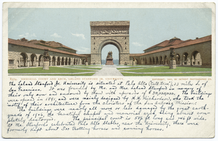 This is What Stanford University Looked Like  in 1898
