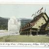 Old Faithful and Old Faithful Inn, Yellowstone Ntl. Park
