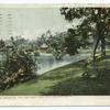 Along border of Lake, Westlake Park, Los Angeles, Calif.