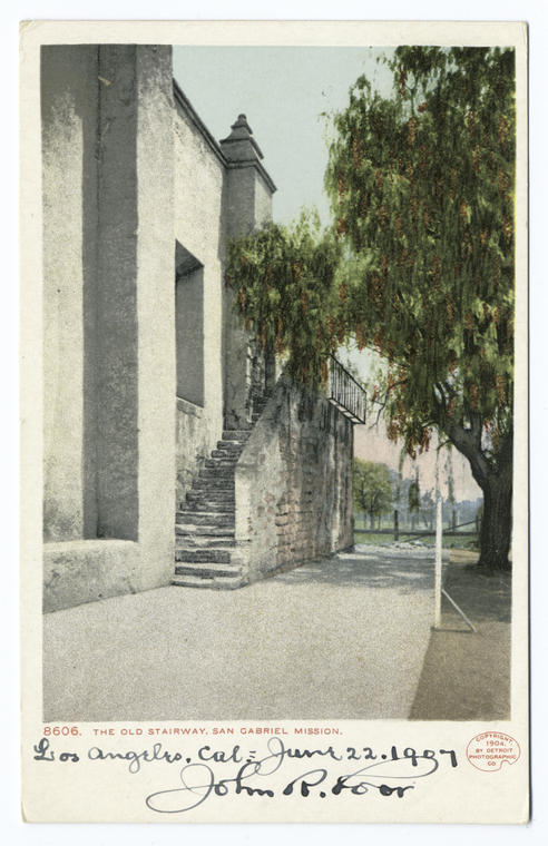 Fascinating Historical Picture of Mission San Gabriel Arcangel in 1898