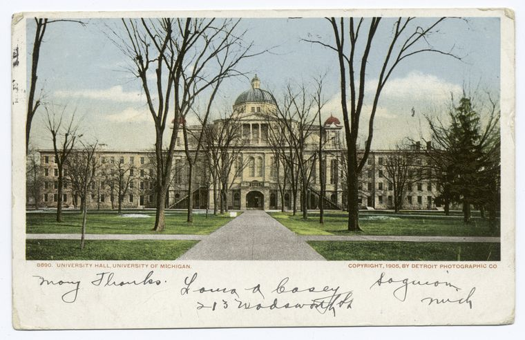Fascinating Historical Picture of University of Michigan in 1898