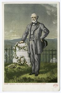 Gen. Robt. E. Lee at Grave of Stonewall Jackson, Portrait