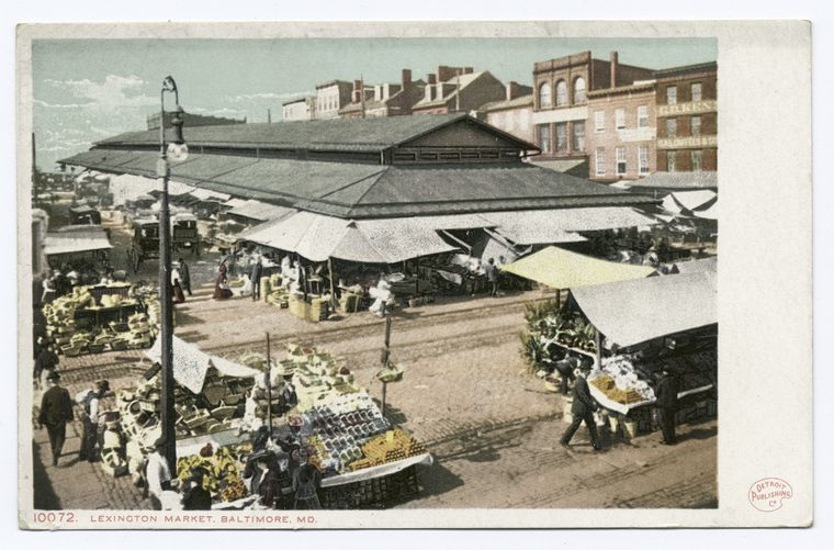Lexington Market, Baltimore, c. 1898-1931. Courtesy [NYPL](http://digitalcollections.nypl.org/items/510d47d9-a209-a3d9-e040-e00a18064a99).