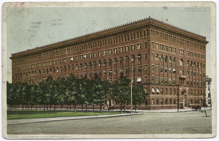 U. S. Printing Office, Washington, D. C.