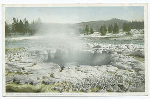 Crater of Great Fountain Geyser, Yellowstone Ntl. Park, Wyo.