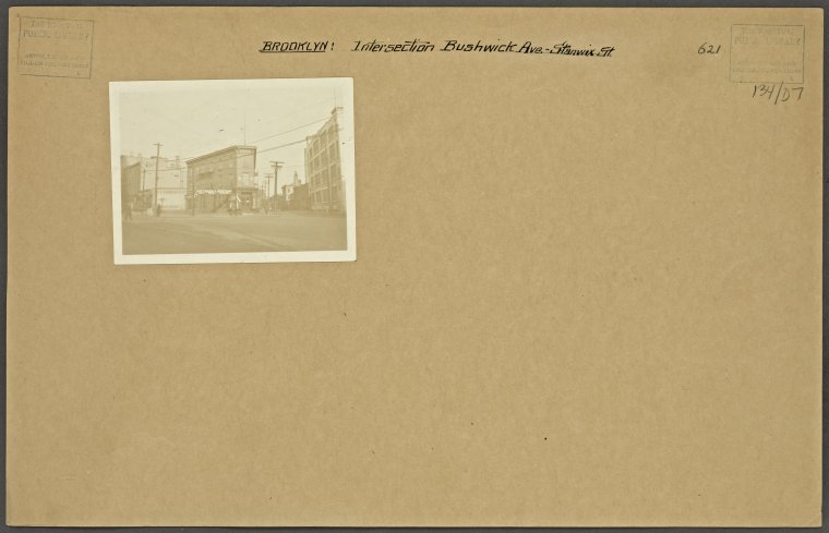 Intersection of Bushwick Avenue and Stanwix Street Credit: New York Public Library