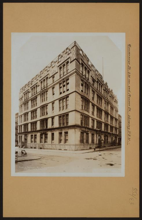 This is What N.Y.C Board of Education and Manhattan: Gouverneur Street - Monroe Street Looked Like  on 1/1/1929