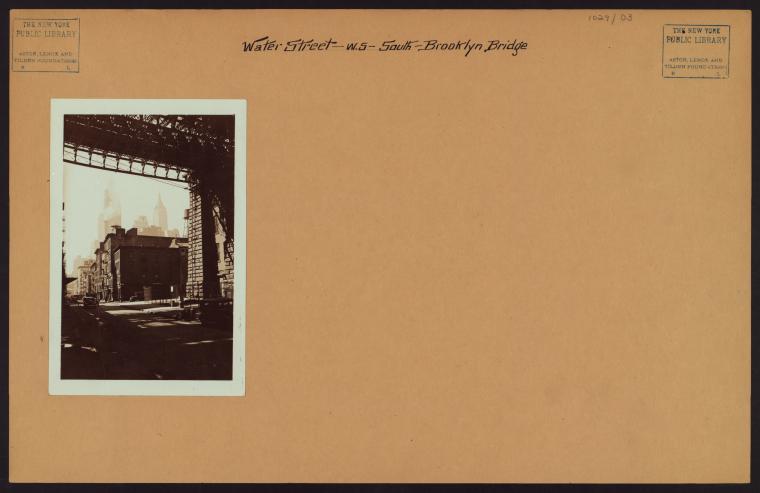 Manhattan: Water Street - Dover Street