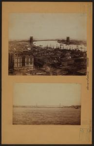 Bridges - Brooklyn Bridge - [Midstream on the East River.]