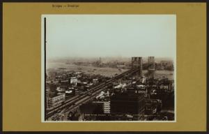 Bridges - Brooklyn Bridge - [View of Brooklyn Bridge over East River, connecting Manhattan to Brooklyn.]