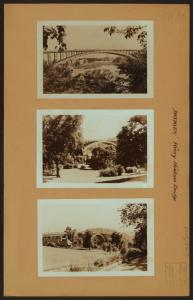 Bridges - Henry Hudson Bridge - [View of the bridge over Harlem River, linking Spuyten Duyvil Hill, Bronx with Inwood Hill Park, Manhattan.]