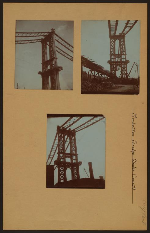 Bridges - Manhattan Bridge - [Construction.]