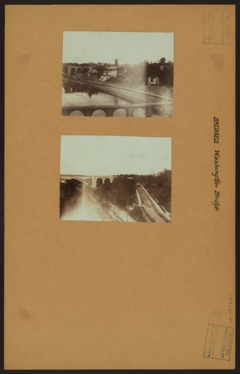 Bridges - Washington Bridge - [High Bridge - Harlem Speedway.]