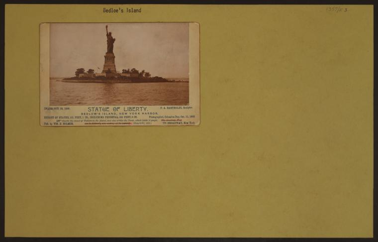 Islands - Bedloe's Island - [Statue of Liberty - New York Harbor.]