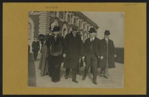 Islands - Ellis Island - [Visit by President Wilson.]