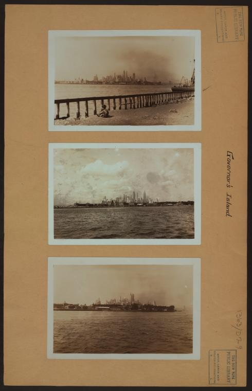 Islands - Governors Island - [View of the island from Brooklyn.]