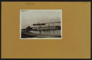 Islands - Hoffman Island - [View of a boat held up at quarantine.]