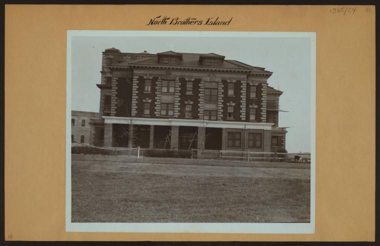 Riverside Hospital, photographed on North Brother Island in 1937