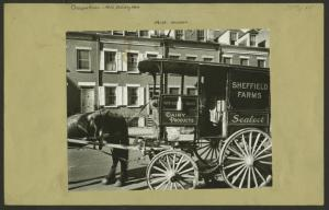 Occupations - Milk delivery men ; Milk wagon.