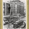 Prohibition - [Old Man Prohibition hung in effigy from a flagpole as New York celebrated the advent Repeal after 13 years of bootleg booze.]