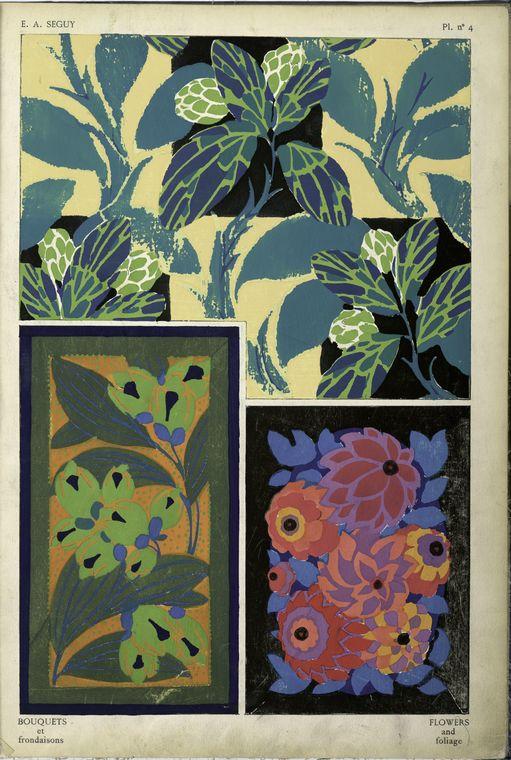 1. Flowers and foliage; 2. Flowers and foliage; 3. Flowers and foliage