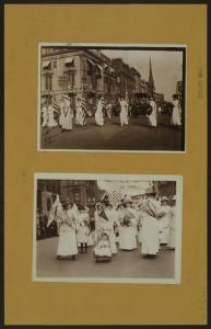 Woman suffrage - [The little suffragist had the honor of leading a division of the parade.]