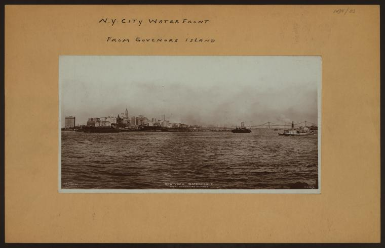 New York City waterfront - [View of the waterfront from Governors Island.]