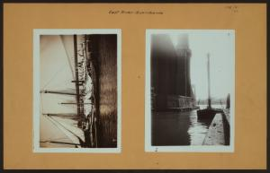 East River - River scenes - [Brooklyn Bridge and shipping.]