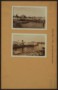 East River - [View of East River pier from East 90th Street in Manhattan.]