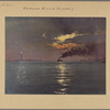 North (Hudson) River - [River scenes - Sunset - Statue of Liberty.]