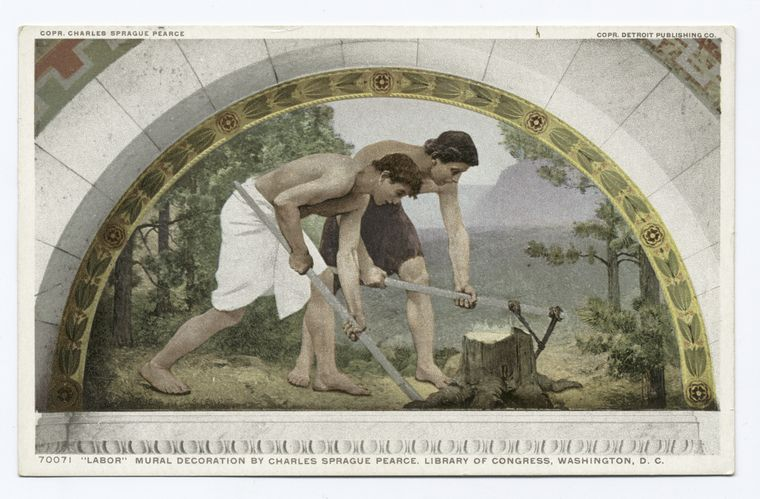 Labor, Mural, Library of Congress, Washington, D. C.