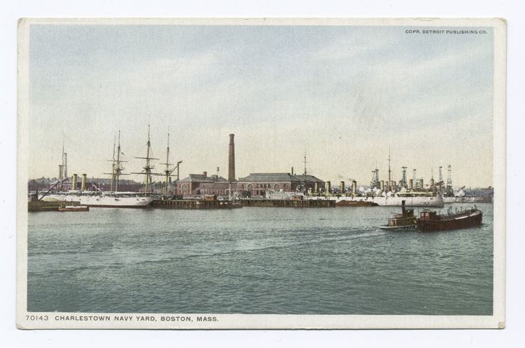 Fascinating Historical Picture of Charlestown Navy Yard in 1898