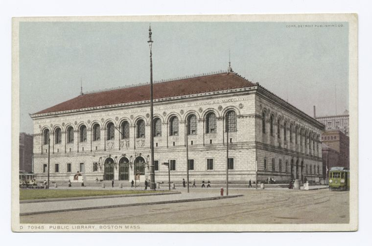 Fascinating Historical Picture of Boston Public Library in 1898
