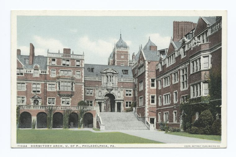 Fascinating Historical Picture of University of Pennsylvania in 1913