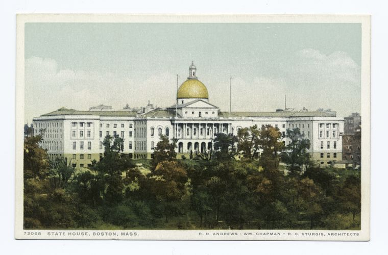 Fascinating Historical Picture of Massachusetts State House in 1898
