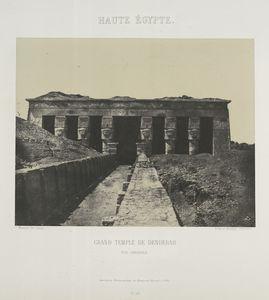 Haute Égypte. Grand Temple de Denderah : vue générale.
