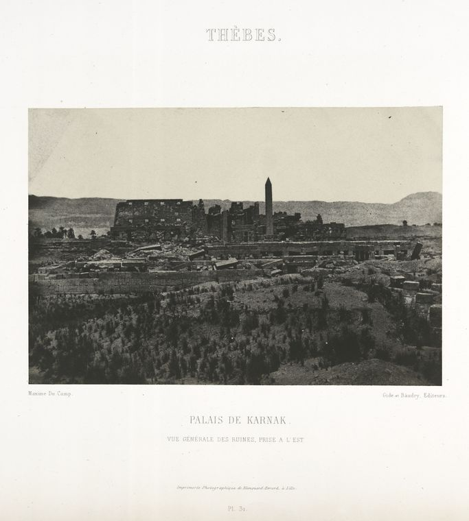 This is What Temple of Amon Looked Like  in 1852