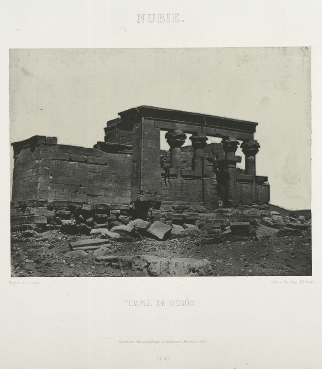 Fascinating Historical Picture of Temple of Dab�d in 1852
