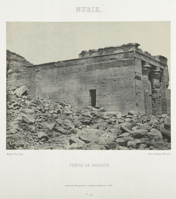 Fascinating Historical Picture of Temple of Dend�r in 1852