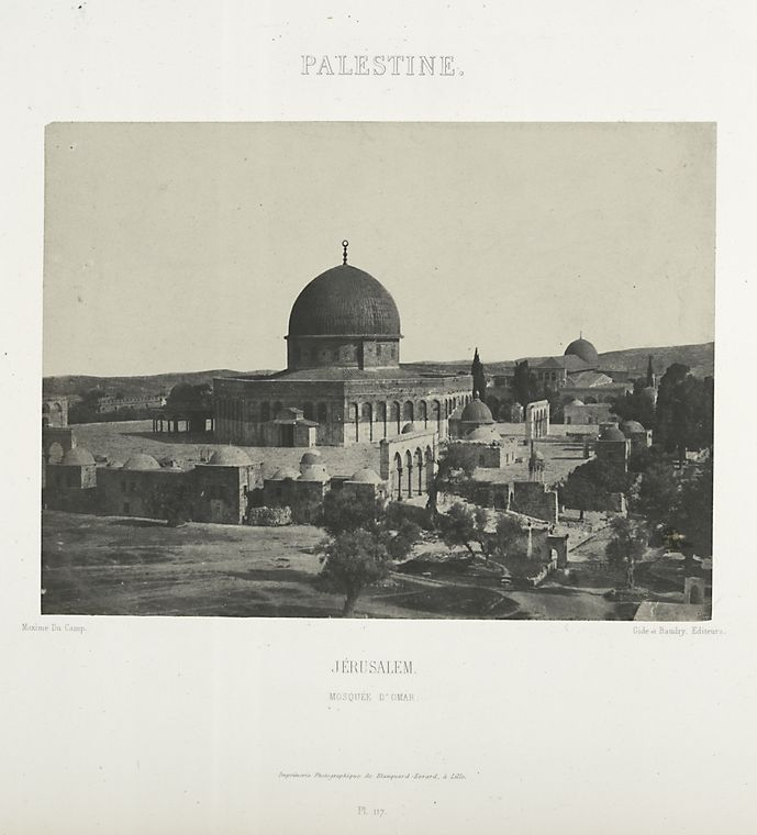This is What Qubbat al-Sakhrah Looked Like  in 1852