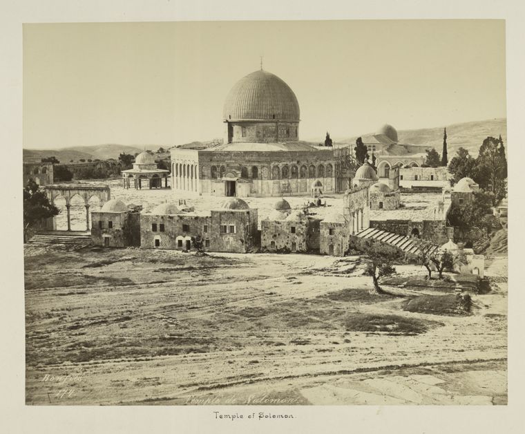 Fascinating Historical Picture of Qubbat al-Sakhrah in 1875