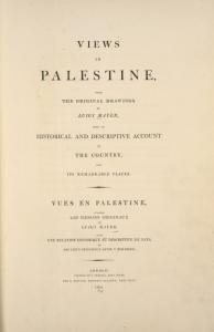 Views in Palestine  [Title page]