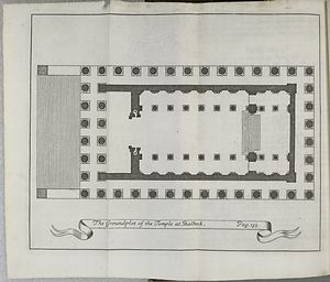 Groundplot of the temple at Balbeck