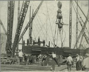 Hoisting a large beam